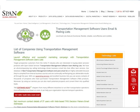 Buy Transportation Management Software Customer Lists from Span Global Services | Span Global Services | Scoop.it
