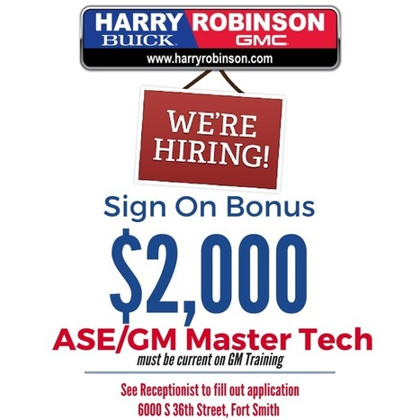 Harry Robinson Buick GMC | Employment | Fort Smith AR News | Scoop.it