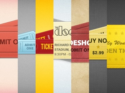 Designmoo | Tickets x 7 (PSD) by Matthew Skiles | Te puede Servir | Scoop.it