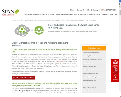 Buy Fleet and Asset Management Software Customer Lists from Span Global Services | Span Global Services | Scoop.it