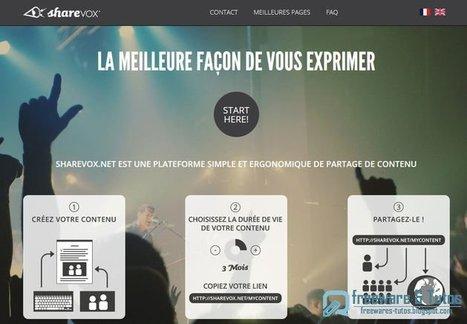 Sharevox : un outil en ligne de création de contenu éphémère | Les outils du numérique au service de la pédagogie | Scoop.it