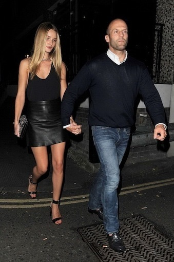 Rosie Huntington-Whiteley and Jason Statham: Supermodel Rocks Leather Skirt ... - Fashion & Style | Blitz Brant Jason Statham Costume | Scoop.it