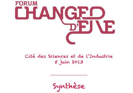 Forum Changer d'ère » Le 5 juin à la cité des Sciences et de l'industrie | Hétérarchie | Scoop.it