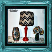 Drab to Fab: Chevron Burlap Lamp - My Personal Accent | Do It Yourself | Scoop.it