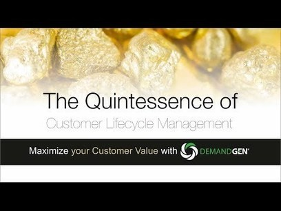 The Quintessence of DemandGen's Customer Lifecycle Management - YouTube | Campagnemanagement | Scoop.it