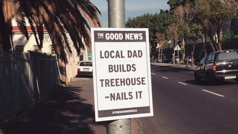 Artist peppers streets with cheerful headlines in 'The Good News' project   News we like   Scoop.it