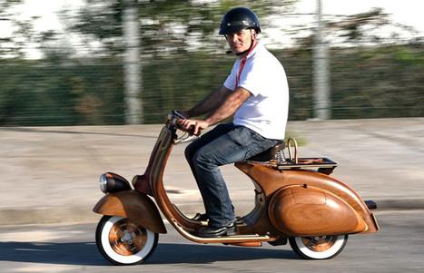 Une Vespa en bois signée Carlos Alberto | Vespa | Scoop.it