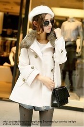 Cheap imitation rabbit fur collar double-breasted micro cloak wool coat jacket for women in women outcoat from women clothing on sightface.com | Cheap women Clothing Online at Sightface | Scoop.it