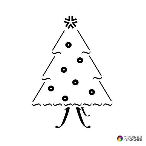 ASCII Art - Christmas Tree Text Art