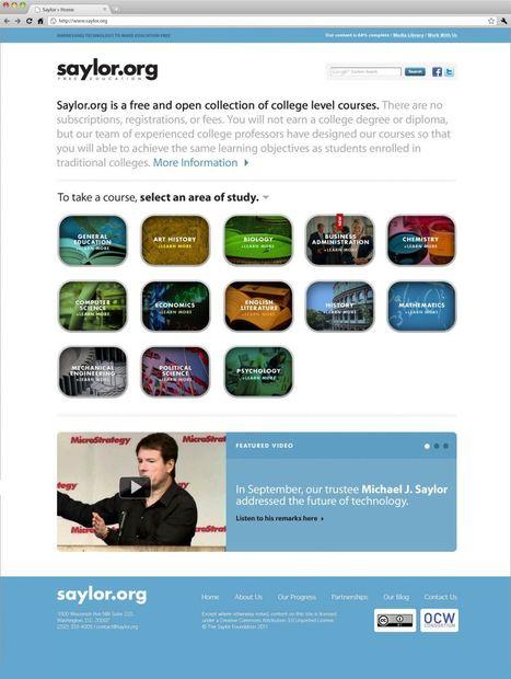 Educación Universitaria de Coste Cero / The Saylor Foundation | Noticias, Recursos y Contenidos sobre Aprendizaje | Scoop.it