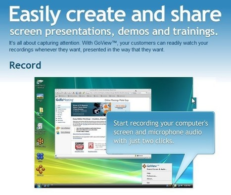 GoView™ Beta : Screen Recordings Made Easy™ | Docentes y TIC (Teachers and ICT) | Scoop.it