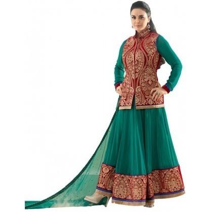 Preity Zinta Green And Maroon Georgette Bollywood Anarkali | Designer Salwar Kameez | Party Wear Salwar Kameez | Bollywood Churidar Salwar Kameez | Scoop.it