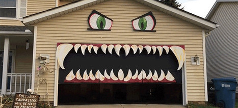 Turning a Garage Into a Monster's Mouth Is a Good Halloween Decoration | News we like | Scoop.it