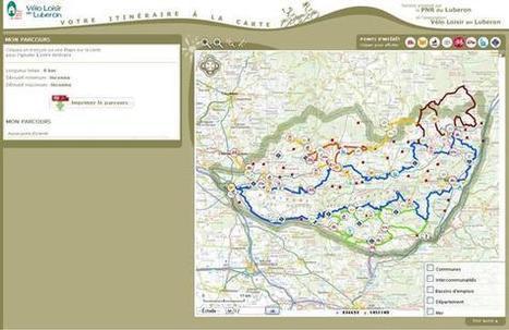 CARTE INTERACTIVE - Préparez votre parcours sur notre carte interactive ! - Vélo Loisir en Luberon | eTourisme - Eure | Scoop.it