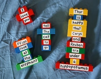 Filth Wizardry: DIY spinny spellers and repurposing Duplo bricks | Primeros lectores... | Scoop.it