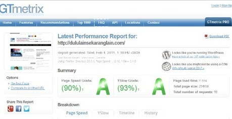 A Score On GTMetrix Speed Test - Dulu Lain Sekarang Lain   Blogging And SEO   Scoop.it