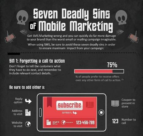 7 Deadly Sins of Mobile Marketing - Infographic | Mobile & Technology | Scoop.it