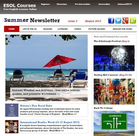 ESOL Courses Newsletter, Aug 2013 | Topical English Activities | Scoop.it