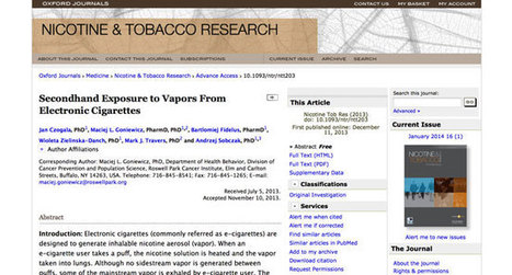 Nouvelle étude : Vapotage passif et nicotine | MaVape | Scoop.it