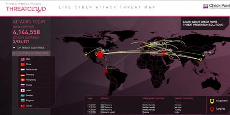 Nuevo mapa interactivo que detalla los ataques cibernéticos en vivo | interNET | Scoop.it