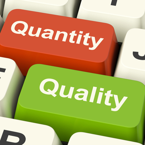 Why social media success is about quality not quantity   Social Media Today   Better know and better use Social Media today (facebook, twitter...)   Scoop.it