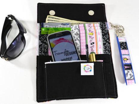 Trifold Wallets, Ladies Wallets, Fabric Wallet, Wristlet Purse, Clutch Wallets, Stylish Wallets, Women's Wallet, Female Wallets | Tramp Lee Designs Bags | Scoop.it