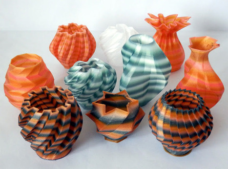 Reprap development and further adventures in DIY 3D printing: 3D Printing with Nylon 618 filament in Tie-Dye colours   3D Printing and Innovative Technology   Scoop.it