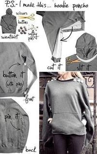 Refashion that Old Texas Hoodie | Tiger People Clothiers | Scoop.it