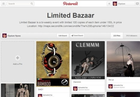 Limited Bazaar´s last round pins | 亗 Second Life Freebies Addiction & More 亗 | Scoop.it