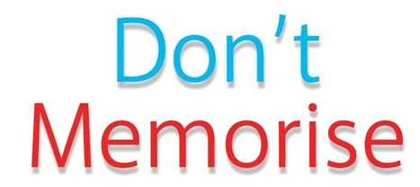 Don't Memorise | MOOC in Moodle | Scoop.it