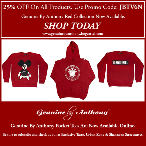 25% Off On All Products at Genuine By Anthony | Genuine by Anthony | streetwear | Scoop.it