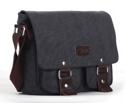 Eshow Men's Casual Canvas Flapover Crossbody Messenger Bag | The Modern Man Bags | Best Messenger Bags For Men | Scoop.it