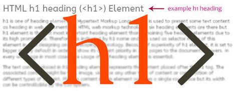 Il était une fois la balise H1 - Référencer un site : Techniques et optimisation | SEO, social media, e-marketing | Scoop.it