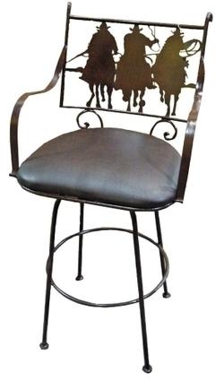 Tres Amigos Rustic Iron Bar Stool   Mexican Furniture & Decor   Scoop.it