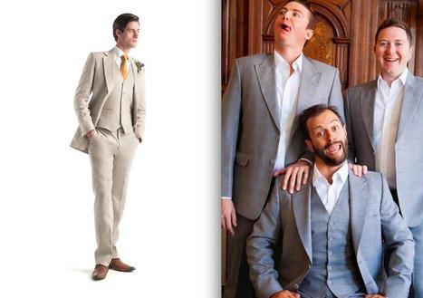 WEDDING SUIT TREND: Gray, Tan and Navy Suits - A Suit That Fits | Azrim: Az Designer Az You | Scoop.it