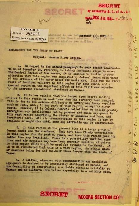 The FBI Once Freaked Out About Nazi Monks in the Amazon ...   Southern Hemisphere   Scoop.it