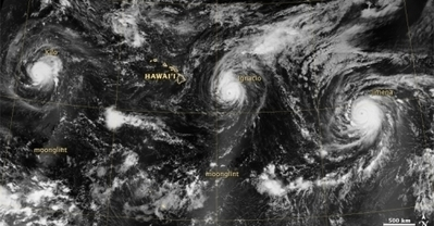 """In Week of Cyclone Records, Kilo Could Break More (""""more el niño typhoons as the pacific warms"""") 