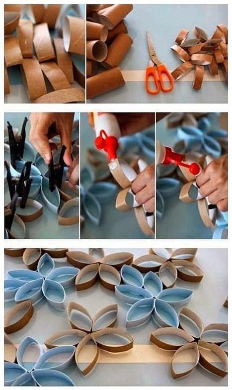 Emérita Desastre: Ideas: Decora tus paredes con rollos de papel higiénico | Con tus propias manos - Lola | Scoop.it