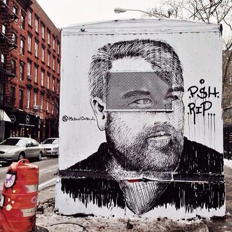 East Village Street Art Tribute to Philip Seymour Hoffman, Ink Lungs, Centre-fuge Public Art Project | STREET POP | Scoop.it