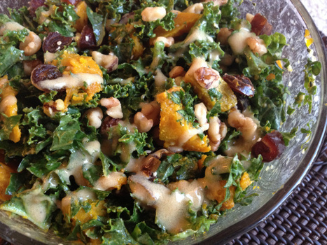 Fall Kale Salad with Roasted Squash, Cherries, and Walnuts (Gluten-free, Dairy-free) | Cooking | Scoop.it