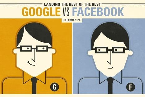 Google vs. Facebook Internships [INFOGRAPH] | World of Meaningful Infograph | Scoop.it
