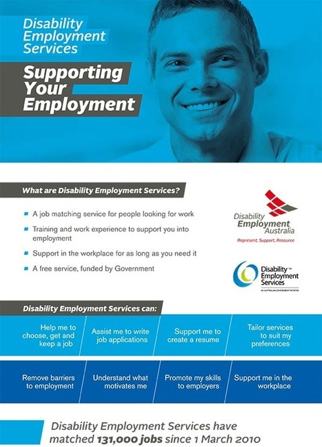 For People With Disability - Disability Employment Australia | ICT interventions in the areas of Healthcare, Livelihood and Disabilities | Scoop.it
