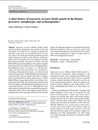 Roman bottlegourds | Agricultural Biodiversity | Scoop.it