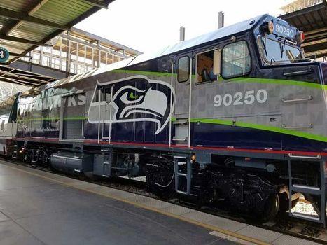 New Seahawks-themed Amtrak Cascades train debuts in Seattle | Seattle Sports Teams | Scoop.it