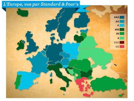 De AAA à CC, l'Europe des dégradés par Standard & Poor's   Epic pics   Scoop.it
