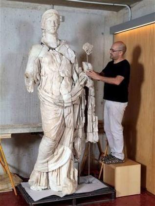 Restaurada la imagen romana de la Diosa Fortuna   Arqueología romana en Hispania   Scoop.it