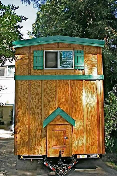 Tiny House with a Flip Up Porch   Small All Season Homes On Wheels   Scoop.it