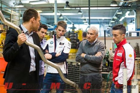 Ducati's Dovizioso & BMW's Wittmann: Surprise Visit to Akrapovic | Ductalk Ducati News | Scoop.it