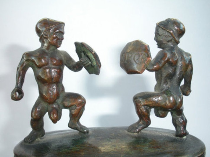 Funny Roman Military Industrial Complex SPQR Bronze Nude Male Macho Soldiers Sculpture Statue ! 19th Century Or Much Older ! One Of A Kind !   Sex History   Scoop.it