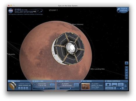NASA publica animación 3D del Curiosity acercándose a Marte en ... | Render farm studios | Scoop.it